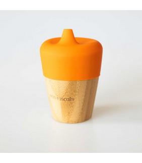 Vaso bamboo 190ml con boquilla de silicona Eco Rascals