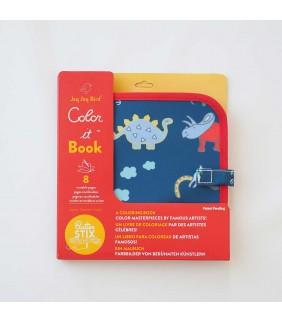 Libro-Pizarra para colorear dinosaurios Jaq Jaq Bird