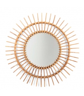 Espejo de ratán Aura 90cm CHILDHOME