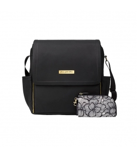 Bolso mochila Boxy Backpack black leatherette Petunia Pickle Bottom