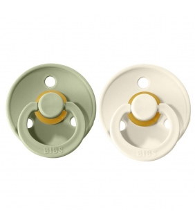 Pack 2 chupetes BIBS Colours Ivory/Sage