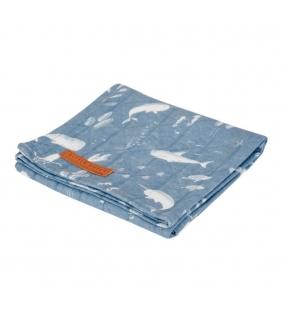 Muselina 120x120 Océano azul Little dutch